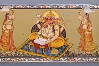 Lord Ganesha's mural at Fort Meherangarh Palace, Jodhpur India (Courtesy: Dalbera via Flickr)